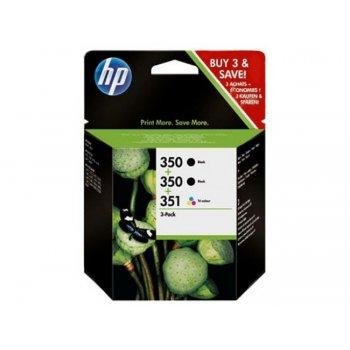 HP 350 350 351 Inkjet Print Cartridges 3-Pack Original Negro, Cian, Magenta, Amarillo Multipack 3 pieza(s)