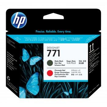 HP Cabezal de impresión DesignJet 771 negro mate rojo cromático