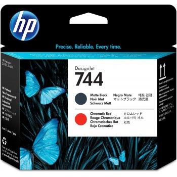 HP Cabezal de impresión DesignJet 744 negro mate rojo cromático