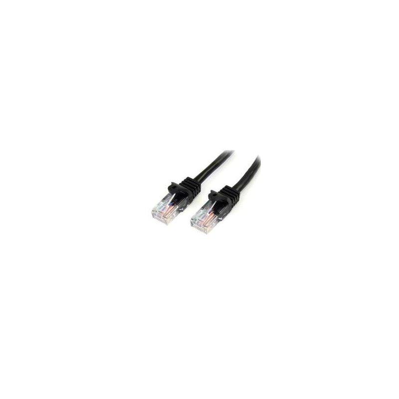 StarTech.com Cable de 1m Negro de Red Fast Ethernet Cat5e RJ45 sin Enganche - Cable Patch Snagless