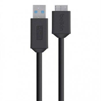 Belkin F3U166bt cable USB 0,9 m 3.0 (3.1 Gen 1) USB A Micro-USB B Negro