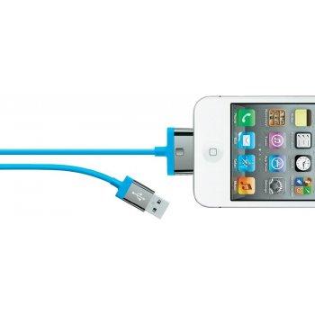 Belkin MIXIT ChargeSync, 2m cable de teléfono móvil Azul USB A Apple 30-pin