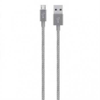 Belkin F2CU021BT04-GRY cable USB 1,2 m USB A Micro-USB A Gris