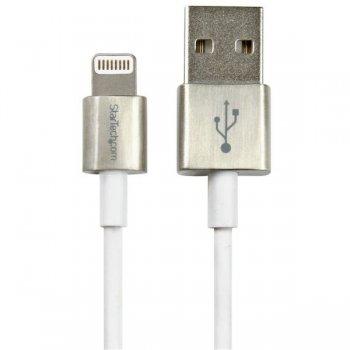 StarTech.com USBLTM1MWH cable de conector Lightning 1 m Blanco