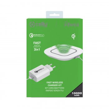 Celly WLKIT3IN1WH cargador de dispositivo móvil Interior Blanco