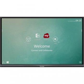 """Viewsonic IFP6550-2EP pantalla de señalización 163,8 cm (64.5"""") LCD 4K Ultra HD Pantalla táctil Panel plano interactivo Negro"""