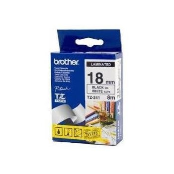 Brother TZe241 cinta para impresora de etiquetas Negro sobre blanco TZ
