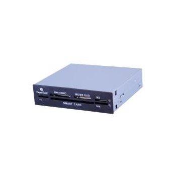 CoolBox COO-CR606 lector de tarjeta Interno Negro, Gris USB 2.0