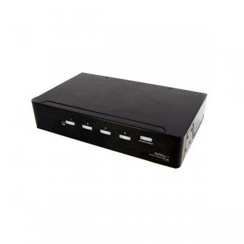 StarTech.com Duplicador Divisor Multiplicador de Vídeo DVI y Audio de 4 puertos - Cable