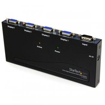 StarTech.com Multiplicador Divisor de Vídeo VGA de 4 puertos 350MHz -Splitter 4 Salidas - Duplicador