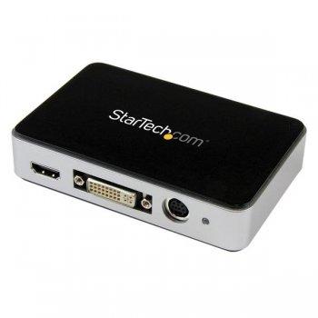 StarTech.com Capturadora de Vídeo USB 3.0 a HDMI, DVI, VGA y Vídeo por Componentes - Grabador de Vídeo HD 1080p 60fps