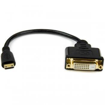 StarTech.com Adaptador Cable Conversor de 20cm Mini HDMI a DVI-D