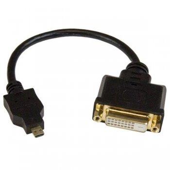 StarTech.com Adaptador Cable Conversor de 20cm Micro HDMI a DVI-D