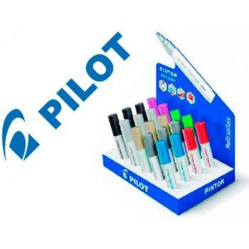 Rotulador pilot pintor multisuperficies tinta opaca punta redonda 4,5 mm expositor de 20 unidades