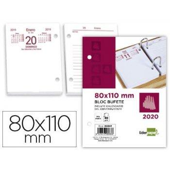 Bloc bufete liderpapel 80x110 mm 2020 papel 80 gr texto en castellano