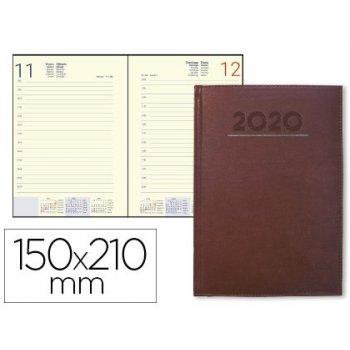 Agenda encuadernada liderpapel creta 15x21 cm 2020 dia pagina color burdeos papel 70 gr