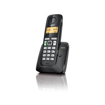 Gigaset A220 Teléfono DECT Negro Identificador de llamadas