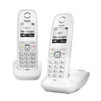 Gigaset AS405 Duo Teléfono DECT Blanco