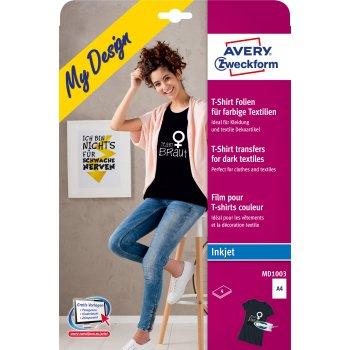 Avery Zweckform MD1003 papel transfer para tejido Inyección de tinta