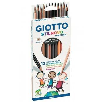 laFeltrinelli Pastelli Giotto Stilnovo Skin Tones. Confezione 12 matite colorate laápiz de color