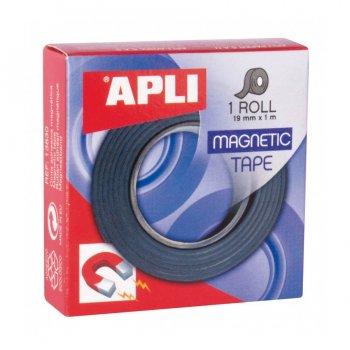 APLI 13830 tira magnética Autoadhesivo 100 cm 1 m