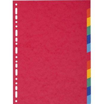 Exacompta 1412E divisor Multicolor Cartón 12 pieza(s)