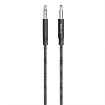 Belkin 3.5mm - 3.5mm, 1.25m cable de audio 1,25 m 3,5mm Negro
