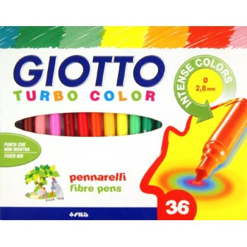 Giotto Turbo Negro, Azul, Verde, Rosa, Rojo, Violeta, Amarillo 36 pieza(s)