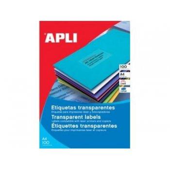APLI SP-581225 Transparente Etiqueta para impresora autoadhesiva