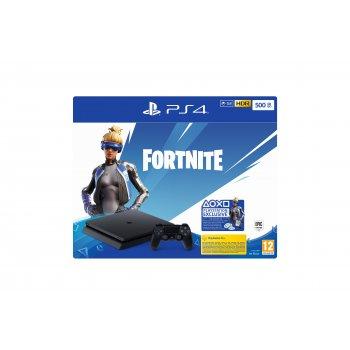 Sony PS4 500GB F + Fortnite VCH (2019) Negro Wifi
