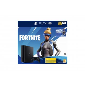 Sony PS4 Pro 1TB Gamma + Fortnite VCH (2019) Negro 1000 GB Wifi