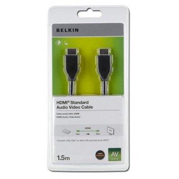 Belkin HDMI 1.4 1.5m cable HDMI 1,5 m HDMI tipo A (Estándar) Negro