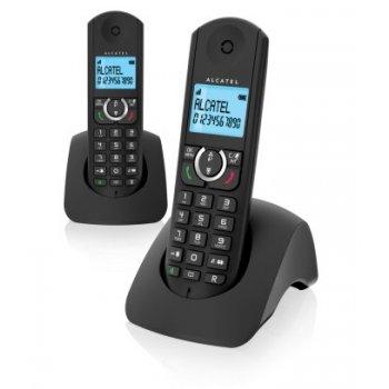 Alcatel F380-S Duo Teléfono DECT Negro Identificador de llamadas