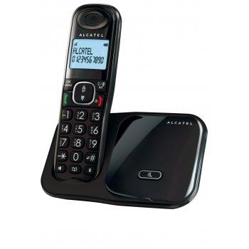 Alcatel XL280 Teléfono DECT Negro Identificador de llamadas
