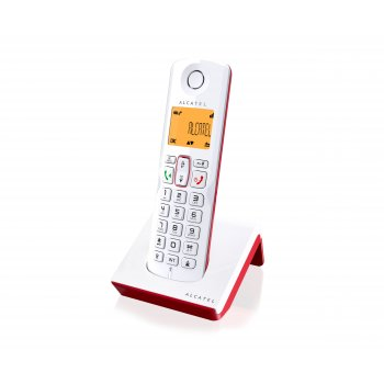 Alcatel S250 Teléfono DECT Rojo, Blanco Identificador de llamadas