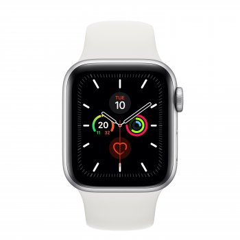 Apple Watch Series 5 reloj inteligente Plata OLED GPS (satélite)
