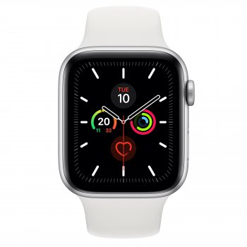 Apple Watch Series 5 reloj inteligente Plata OLED Móvil GPS (satélite)
