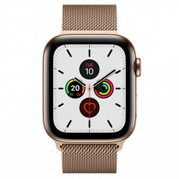 Apple Watch Series 5 reloj inteligente Oro OLED Móvil GPS (satélite)