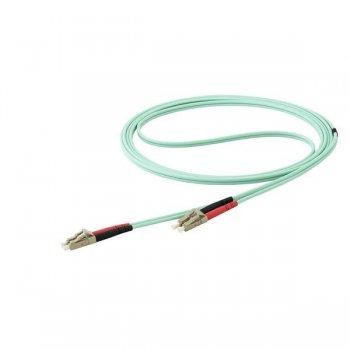 StarTech.com Cable de 15m de Fibra Óptica Multimodo Dúplex 50 125 LC a LC - Aqua - OM4 - LSZH