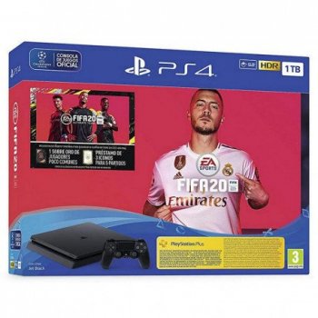 Sony PlayStation 4 + FIFA 20 Negro 1000 GB Wifi