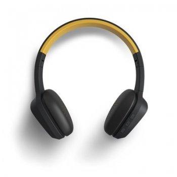 Energy Sistem 429325 auriculares para móvil Binaural Diadema Negro, Amarillo