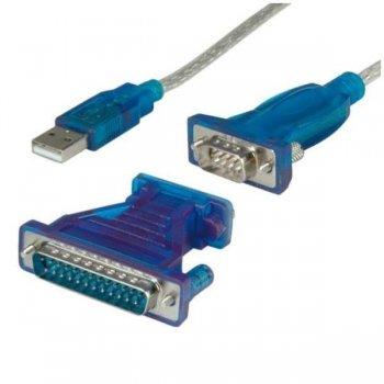 Nilox NX080500103 adaptador de cable USB 1.1 A DB9 DB25 Azul