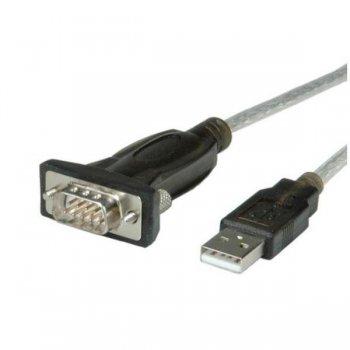 Nilox NX080500107 adaptador de cable Serial DB9 USB 2.0 A Negro, Gris