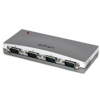 StarTech.com Hub Concentrador USB a 4 Puertos Serie RS232 - Ladrón Serie DB9 - Adaptador USB a Serie