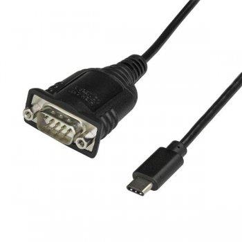StarTech.com Adaptador Conversor USB Tipo C a Serie DB9 RS232 con Retención de Puertos COM - Cable USBC a Serie