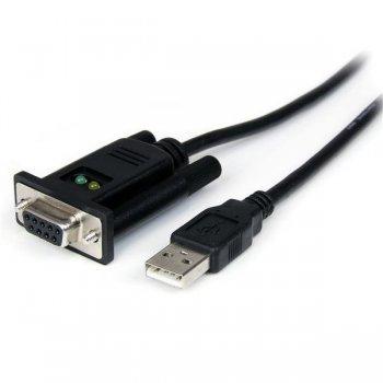 StarTech.com Cable Adaptador de 1 Puerto USB a Módem Nulo Null DB9 RS232 Serie DCE con FTDI