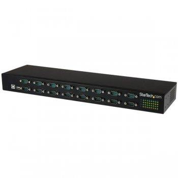 StarTech.com Adaptador USB a Concentrador de 16 Puertos Serie