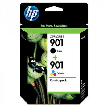 HP 901XL High Yield Black 901 Tri-color 2-pack Original Negro, Cian, Magenta, Amarillo