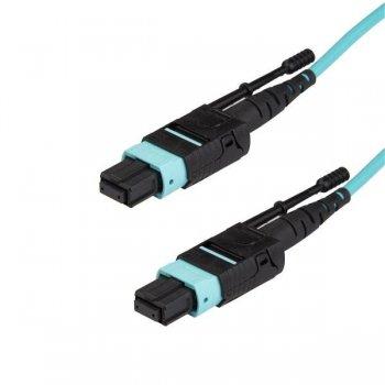 StarTech.com MPO12PL1M cable de fibra optica 1 m OM3 MPO MTP Aqua