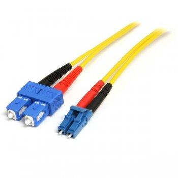 StarTech.com Cable Adaptador de Red de 1m Monomodo Dúplex Fibra Óptica LC-SC - Patch Duplex Modo Sencilla